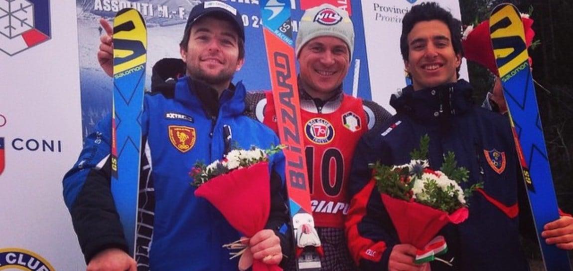 Unser Florian kürt sich zum Riesentorlauf-Italienmeister
