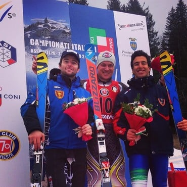 Our Florian is Italian Champion in Gigant Slalom