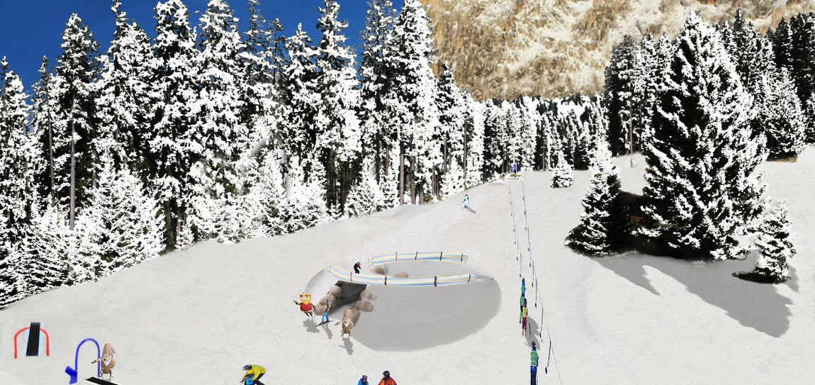 New Kinderland kids' area at Frommer Alm