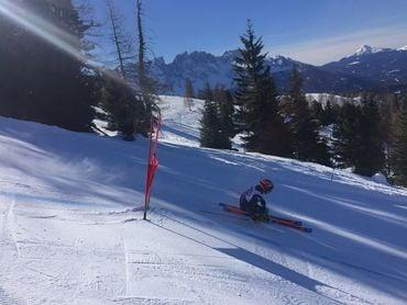 Das italienischen Ski-Alpin Riesentorlaufteam auf der Moseralm
