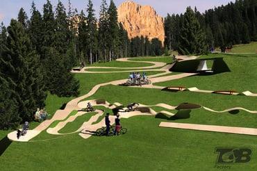 nuova area allenamenti - bikepark Carezza