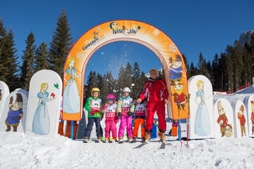 Experience King Laurin's world on skis – a great experience for children