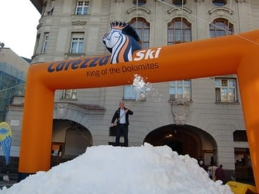 Schnee am Rathausplatz