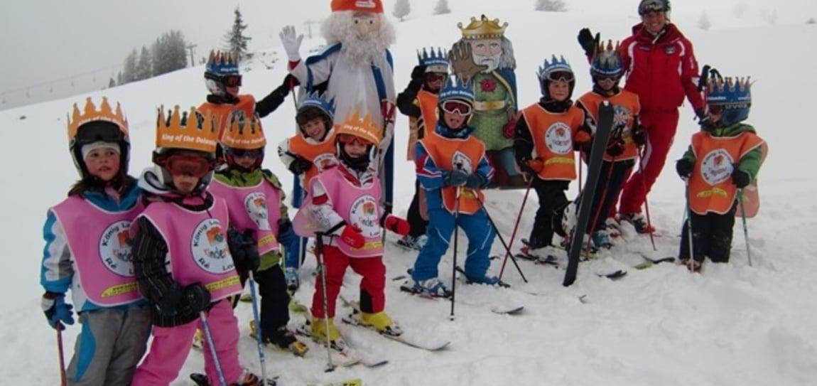 King Laurin children's ski tour in the Carezza-Karersee ski resort
