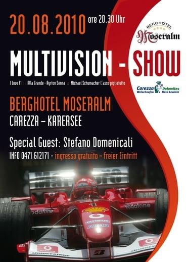 Große Formel 1 Multivisionsshow mit Stefano Domenicali auf der Moseralm