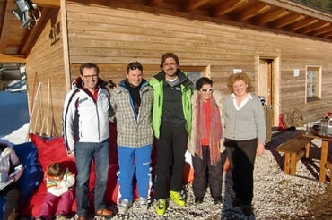 Valerio Staffelli at the Hotel Moseralm