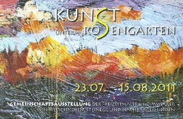 "Kunstausstellung ""Kunst unterm Rosengarten"""