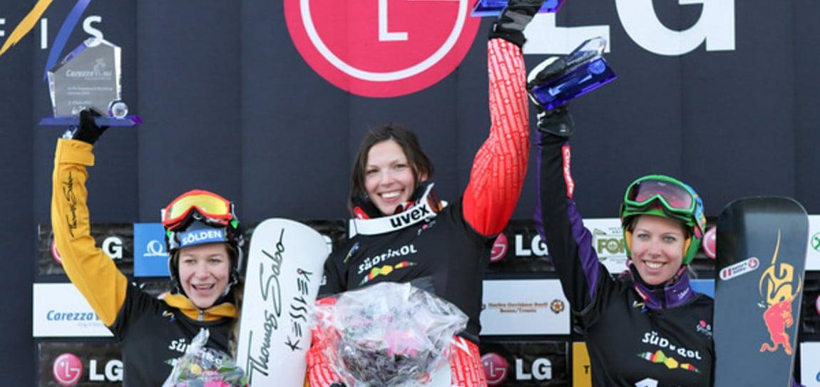 Ergebnisse Rennen der Frauen des Snowboard FIS World Cup Carezza 2011