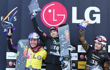 Ergebnisse Rennen der Männer des Snowboard FIS Worldcup Carezza 2011