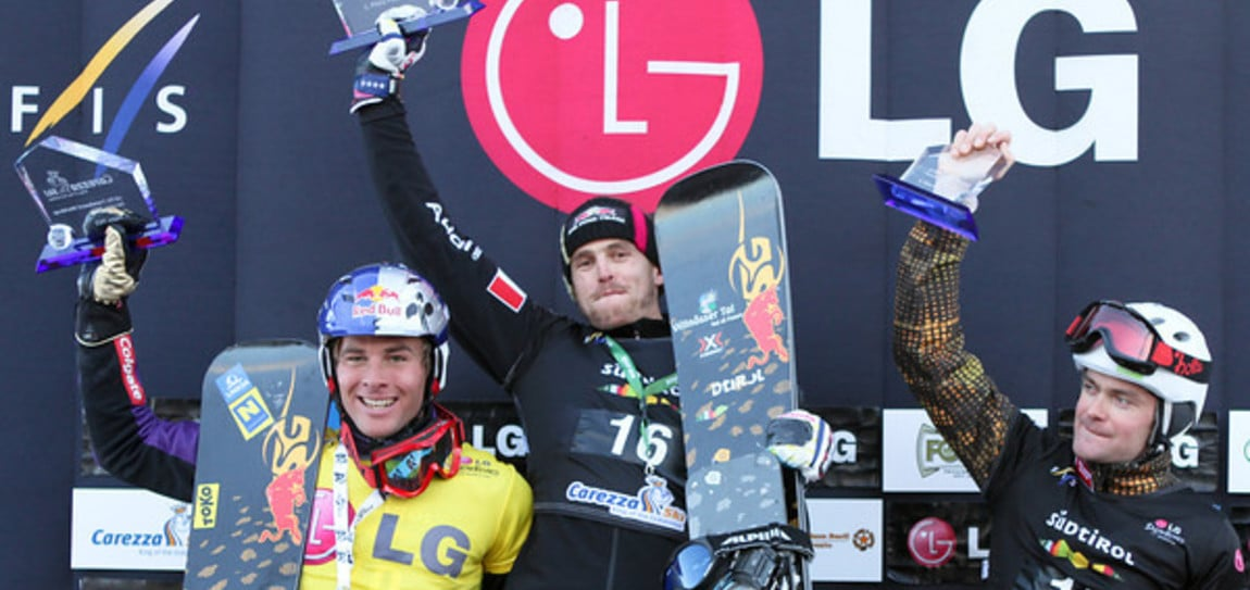 Results mens competition of the Snowboard FIS World Cup Carezza 2011