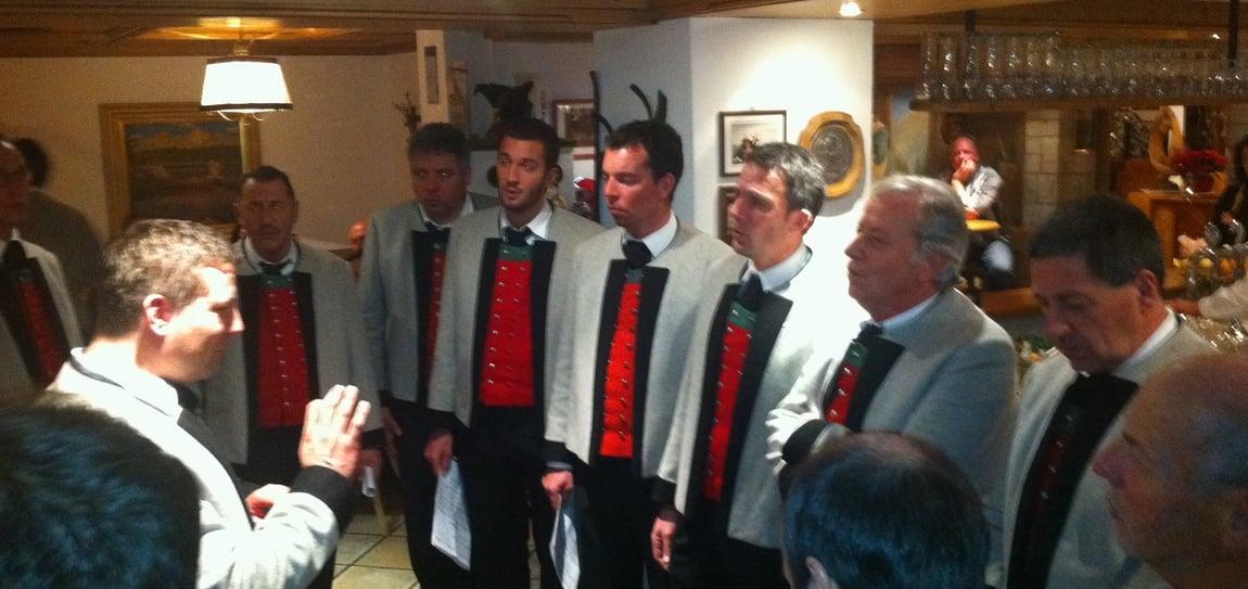 Concerto del coro maschile di Nova Levante al Moseralm