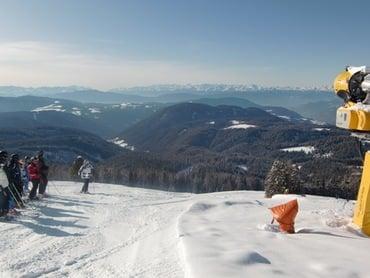 Ski-Führung mit Georg im Klimaskigebiet Carezza