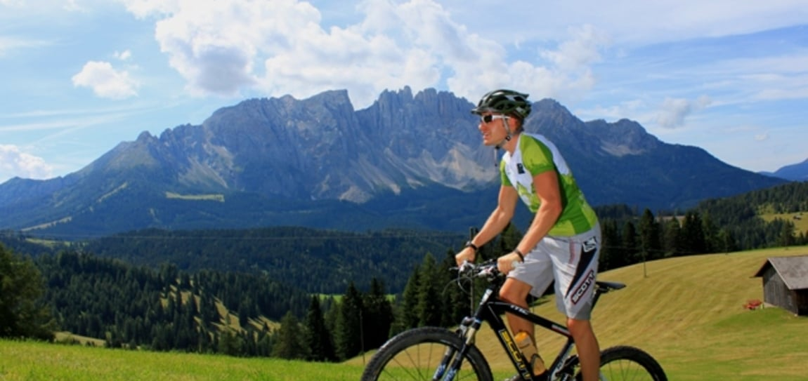 Latemar Giro with the racing bike