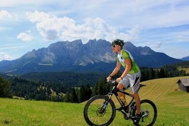 Latemar Giro with the racing bike
