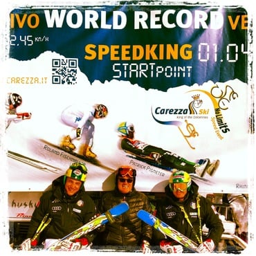 SPEEDKING 2013 on the 1st of april 2013 at Carezza on the slope Pra di Tori