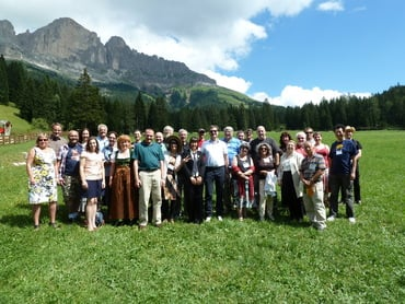 Meeting of the International Planetarium Society (IPS) at Gummer with lunch at the Moseralm