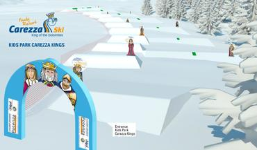 New: Family Fun Lines Carezza and King Laurin snowpark