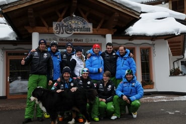Wir verabschieden das italienischen Olympia Team der Disziplin Snowboard Alpin