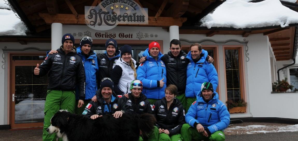 We say goodbye to the Italian Olympic team - discipline Snowboard Alpin