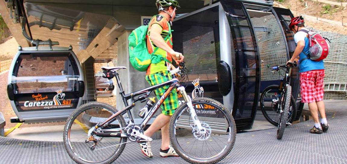 Cable car Welschnofen/Nova Levante with bike transportation