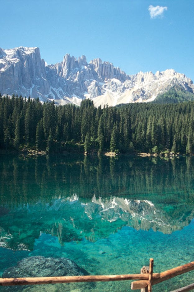 Un idilliaco lago di montagna