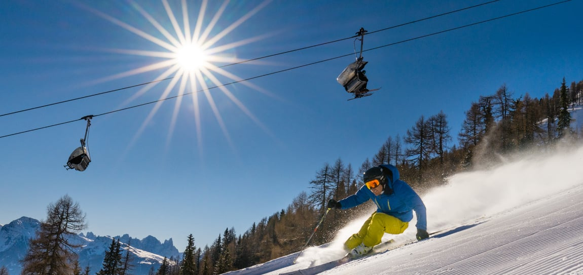 Winterurlaub im Skigebiet Carezza