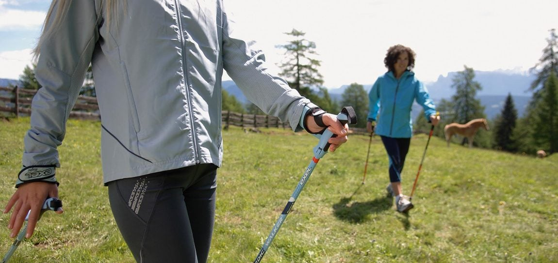 Nordic Walking in den Dolomiten